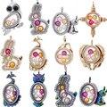 Магнитный Стекло плавающий подвеска, медальон Цепочки и ожерелья памяти кулоны для фотографии 15 видов стилей (с Сталь цепи или нет)