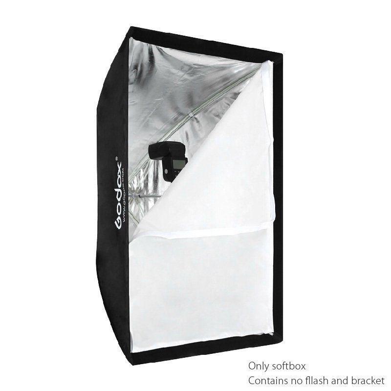 цена на Godox 60x90 60x90cm Photo Umbrella Rectangle Softbox Diffuser Reflector for Studio Speedlight Flash