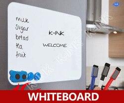 Quadro branco magnético criativo novo, quadro branco macio como ímã de geladeira/escritório marcador blackboard/adesivo