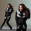 Outono 2 Peça Set Mulheres fatos de Treino Calças de Exercício e Lazer Terno Feminino das Mulheres Moda Mulheres Sweater Terno Calças Maré de Moda