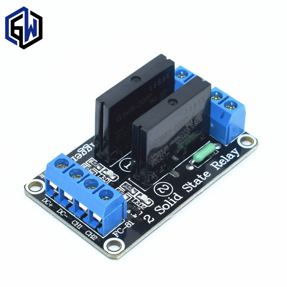 5V 2 Channel SSR low Level Solid State Relay Module 240V 2A(China)