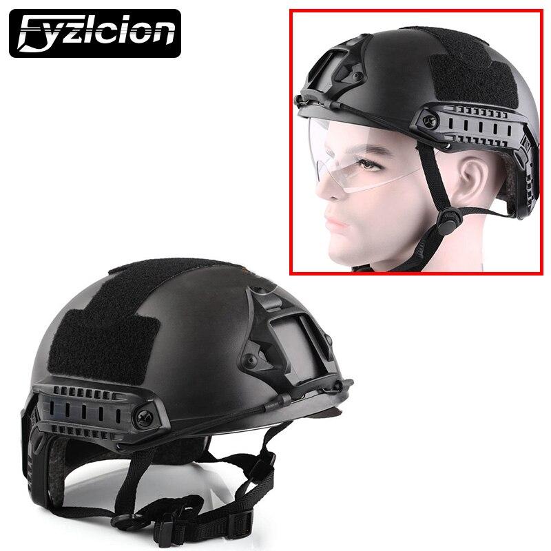 Wargame Helme защитным Goggle MH Тип военно-тактические Шестерни Airsoft Пейнтбол SWAT защитный быстро шлем с выпученными