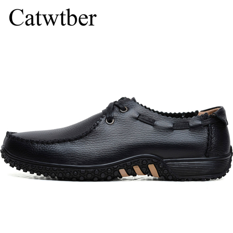 Catwtber 2018 Handmade Men's Shoes Casual Flats Moccasins Men Loafers Shoes Luxury Brand Breathable Leather Driving Boat Slip On 2017 brand mens loafers moccasins slip on breathable charm men shoes casual fashion round toe brown men flats leather boat shoes