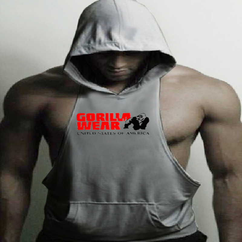 Animal brand clothing Bodybuilding Fitness Men   Tank     Top   workout The gorilla wear print Vest Stringer sportswear Undershirt