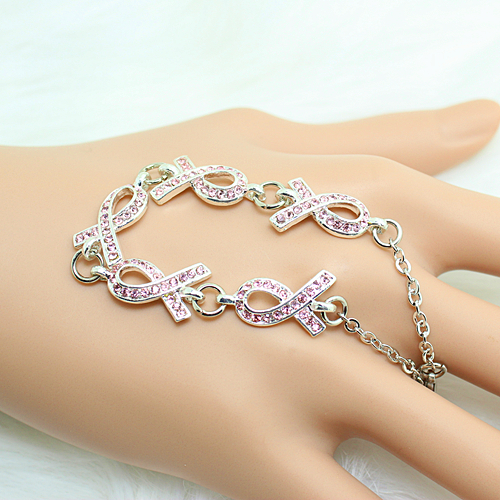 CMajor Breast Cancer Awareness Five Pink Ribbon Rhinestone Bracelet for  Women World AIDS-in Charm Bracelets from Jewelry   Accessories on  Aliexpress.com ... b945f14e52ab
