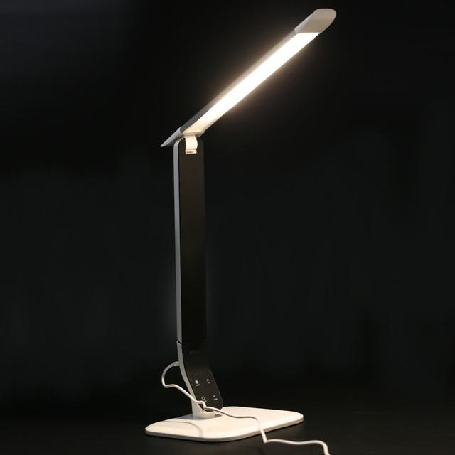 2017 mais novo 3 Cores 10 W ABS FX802 Ajustável Luz LED de alta Sensibilidade Ao Toque Secretária Livro Casa Candeeiro de Mesa de Estudo Aos Alunos leitura