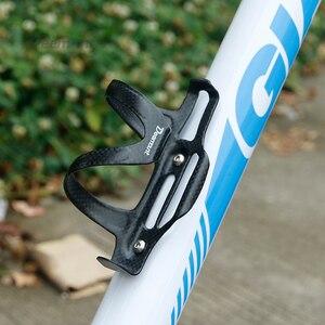 Image 5 - Portabotellas de fibra de carbono superligero, soporte de botella de agua de bicicleta, pernos de acero inoxidable incluidos, 25 gramos