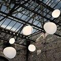 Подвесные светильники  светодиодные  в скандинавском стиле  с белым шаром  для гостиной  столовой  кухни