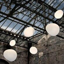 Nordic wisiorek światła biały Globe lampa wisząca szklany klosz lampy dla oświetlenie do salonu kuchnia oprawa luminaria lampa wisząca