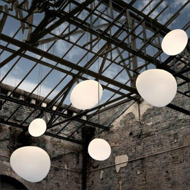 Nordique Pendentif Lumi¨res Blanc Globe Pendentif Lampe Abat jour En