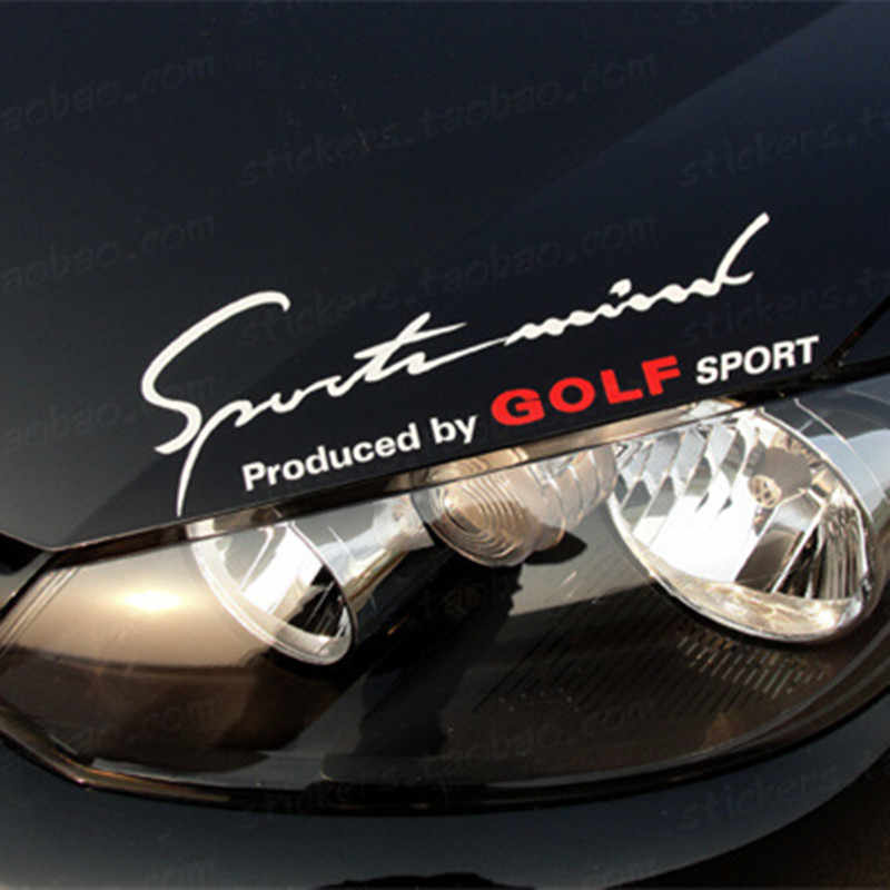 Reflective Car Sticker On Headlight Hood For Volkswagen VW Golf 6 4 5 7 GLX SE TDI GTI Sport Signature Auto Styling Decal Sport