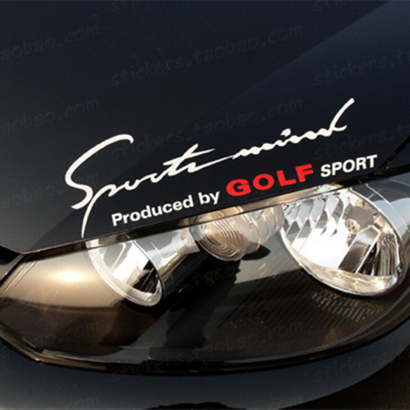 Signature Auto Group: Reflective Car Sticker On Headlight Hood For Volkswagen VW