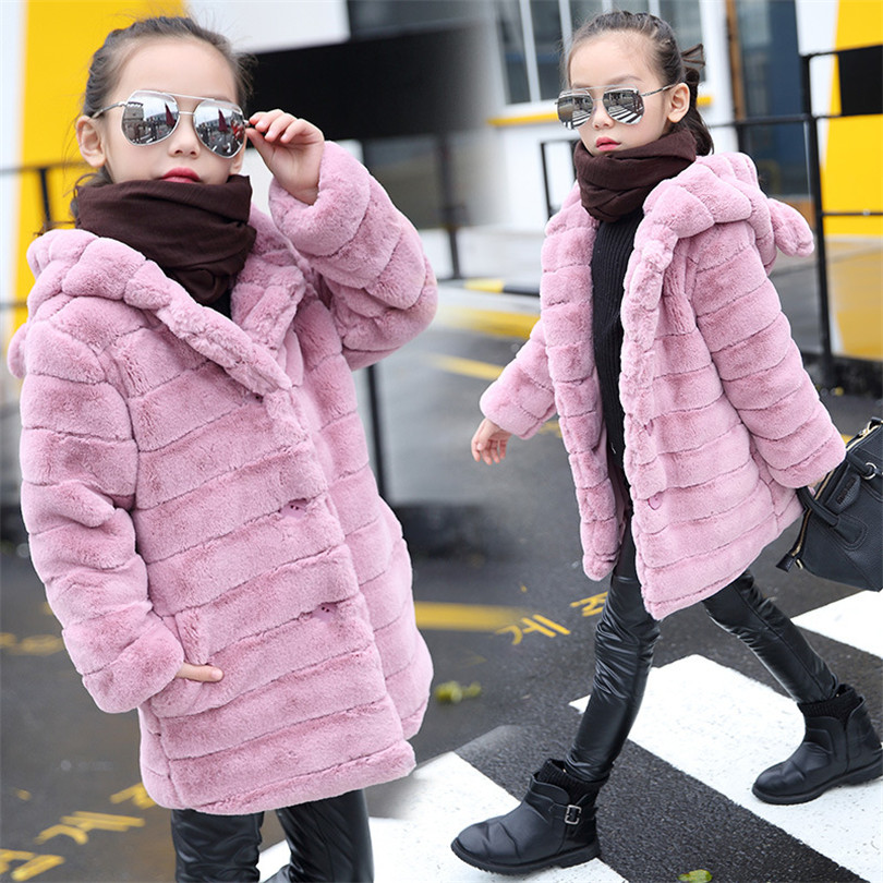 2018 Winter Children's Down Cotton Rex Rabbit Fashion Men And Women Baby Autumn And Winter Fur Coat Girls Coat Children's Coat autumn and winter coat for women a new autumn winter coat for women page 5