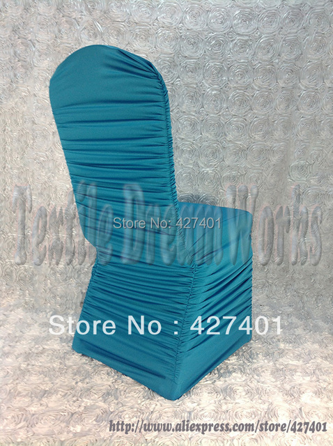 Hot Sale Turquoise Ruffle Lycra Chair Cover /wedding Chair Covers/Flouncing Chair  Cover For