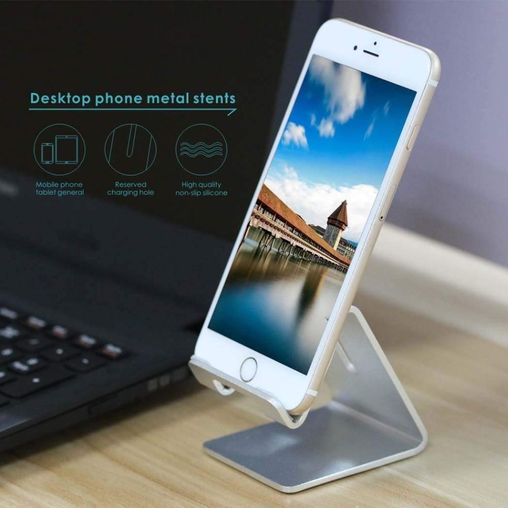 Portefeuille Aluminum Metal Phone Stand for Desk iPhone X 7 8 Plus 6S iPad Pro Xiaomi Mi Pad 4 Samsung Tablet Holder Accessories (8)