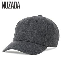 Marke NUZADA Herbst Winter Warm Halten Hysterese Knochen Männer Frauen Baseball-kappen Hüte Kappe Simpl Farbe Schwarz Grau Woll