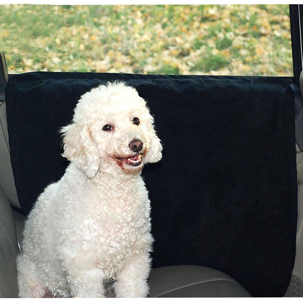 Waterproof anti scratch Pet Car Door Cover Car Rear Back Seat Pad Suede Door Cover Mat Protectors Fit All Vehicles