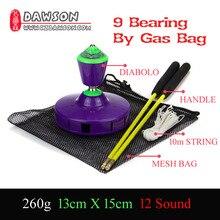 9 roulement avec Gasbag chinois Kongzhu couleur rouge vert violet Diabolo YOYO bâtons de fibres de verre sac de ficelle