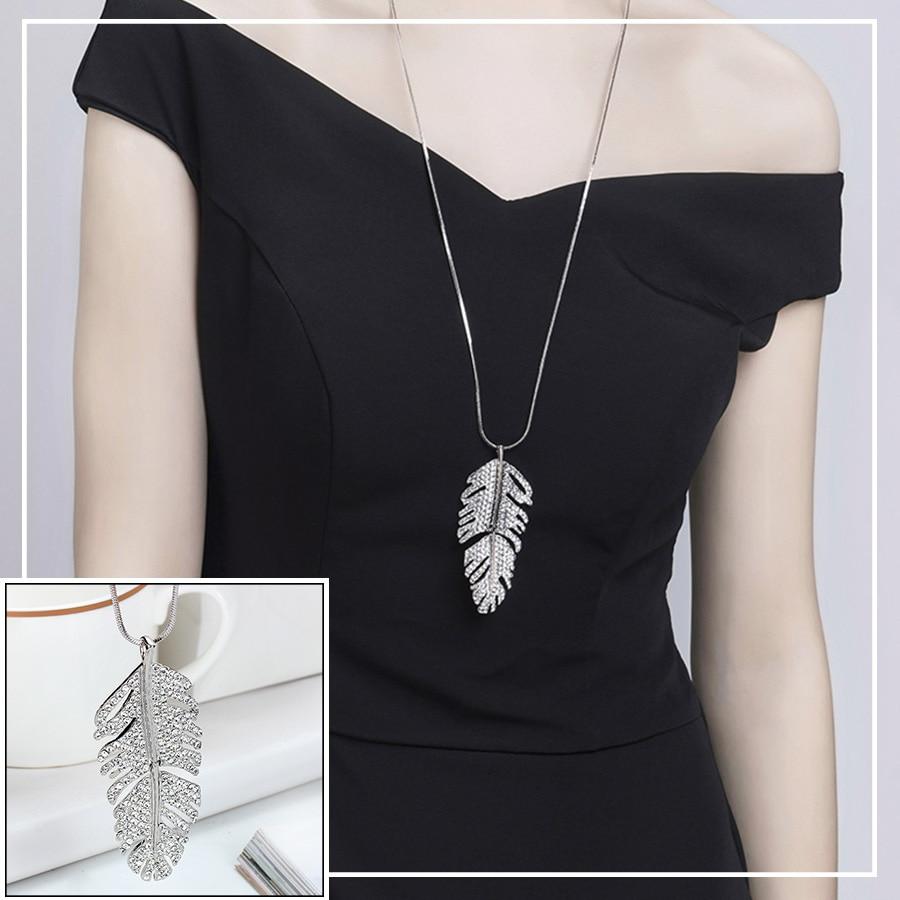5bb8f953d730 RAVIMOUR Collier Femme moda suéter cadena larga collar mujeres ...