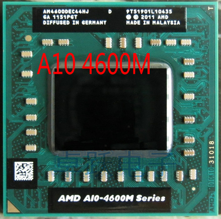 AMD Laptop A10 5700M Series A10 5750M A10-5750m AM5750DEC44HL Socket FS1 CPU 4M Cache//2.5GHz//Quad-Core Processor GM45//PM45