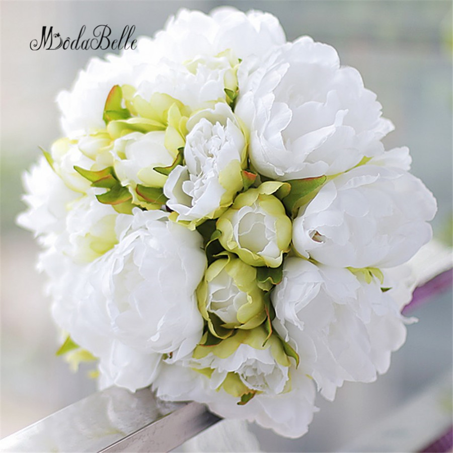 Modabelle Countryside Style Wedding Bouquets White Green
