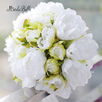 Modabelle Countryside Style Wedding Bouquets White Green Peony Wedding Flowers Bridal Bouquets Buque De Noiva Artificial 2017