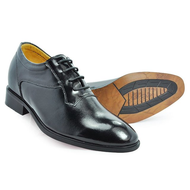 8124 - Europe Shoes with Hidden Heels make Men grow taller 7CM, Oxford shoes good for men suit, wedding party FREE SHIPPING