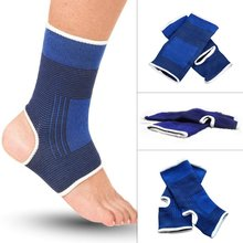 1 pair  Blue Elastic Ankle Foot Support Brace Compression Relief Pain Care Sports Sleeve