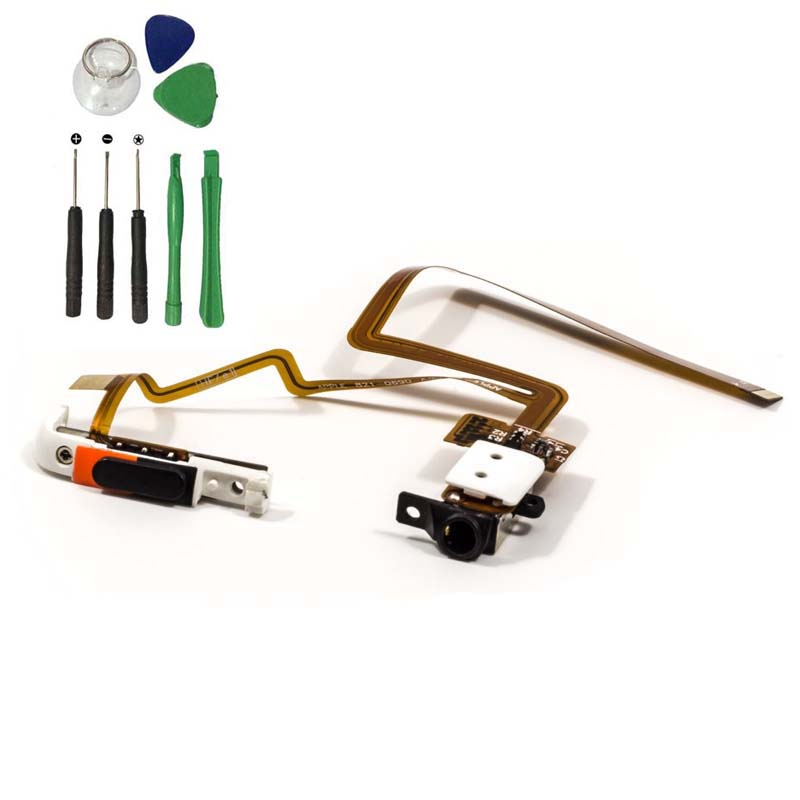 Tênis Camelo Headphone Áudio Jack Hold Switch Flex Cable Fita Para iPod 80gb 6th gen Clássico 120gb e 7th 160GB Fina