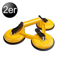 120Kg Heavy 2 X Aluminium Suction Triple Claw Suction Cup Triple Pad Sucker Plate Glass Lifter Carrier Tool Home Accessories