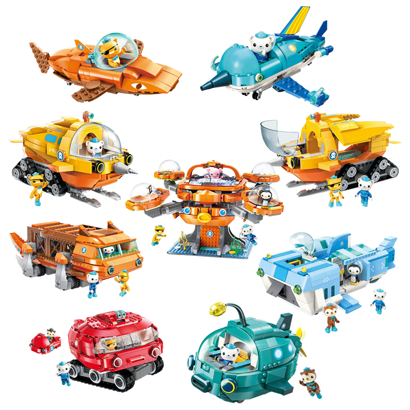 Toys & Hobbies Blocks Independent Legoing Movie 2702pcs Octonauts Series Combination Packages Octopus Bricks Blocks Toys For Children Compatible Legoings Sets An Indispensable Sovereign Remedy For Home