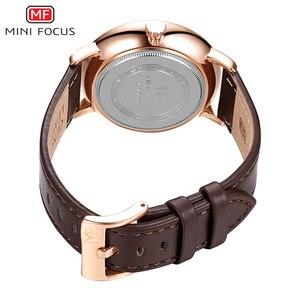 Image 2 - MINI FOCUS Mens Watches Top Brand Luxury Quartz Watch Men Calendar Bussiness Leather relogio masculino Waterproof reloj hombre