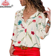 Women Blouses 2019 Fashion Long Sleeve Turn Down Collar Office Shirt Chiffon Blouse Shirt Casual Tops Plus Size Blusas Femininas(China)