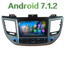 "8"" Android 7.1 Quad Core 2GB RAM 4G WiFi Multimedia Car DVD Player Radio Stereo GPS Navi For Hyundai IX35 Tucson 2015 2016 2017"