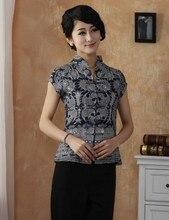 แฟชั่นใหม่น้ำเงินครามจีนสตรีเสื้อผ้าเสื้อผ้าฝ้ายเสื้อท็อปส์ขนาดMl Xl XXL XXXL 4XLจัดส่งฟรีTD27