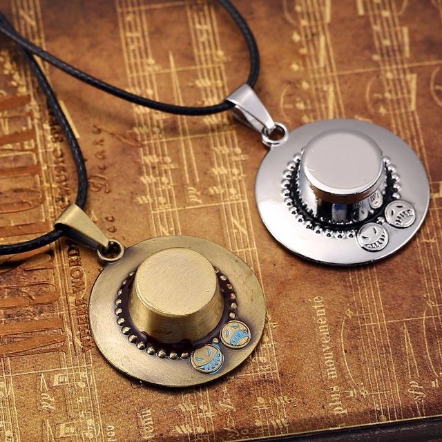 Portgas D Ace Necklace Bronze Hat Pendant