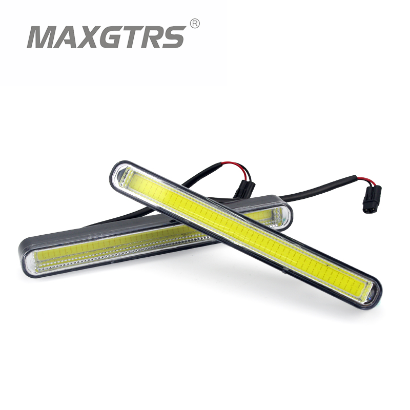 2017 New Ultra Bright 2Pcs/Lot 20.5cm LED Daytime Running Lights Waterproof COB Daylight Car Light Source DRL Driving Fog lamp 2 pcs for vw tiguan 5 pcs of light 2010 2012 daytime running lights fog head lamp car styling white daylight waterproof