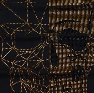 Image 2 - Yaz üst erkek kafatasları Rhinestones T gömlek Modal pamuk O boyun kısa kollu ince Tee gömlek