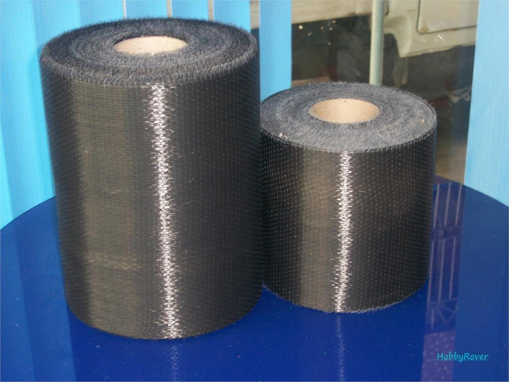 "[Grade B 3.4Gpa] 4""/10cm width 200gsm Carbon Fiber 12k UD Uni-directional Cloth Fabric Tap High strength Repair material"