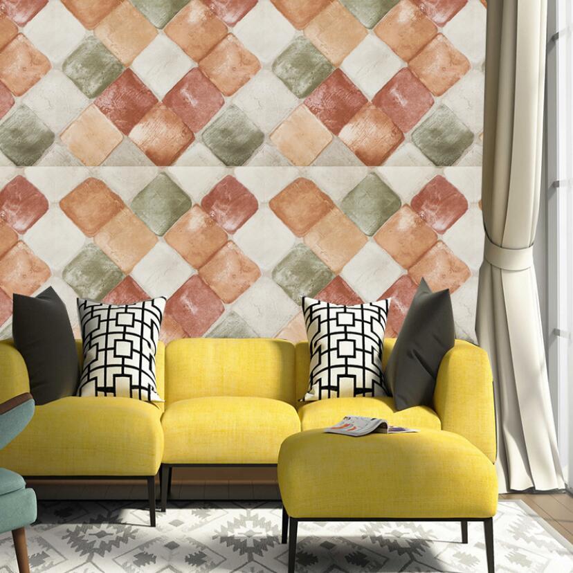 Baru Elegan Persegi Grid Wallpaper Dinding Ruang Tamu Dekorasi Kertas 3d Pvc Wallpaper Gulungan 10 M Perekat Papel De Parede Ez161 Wallpaper Aliexpress