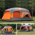 Luxe ultralarge hoge kwaliteit een hal twee slaapkamers 6 8 10 12 outdoor camping tent 215 cm hoogte waterdicht party familie tent