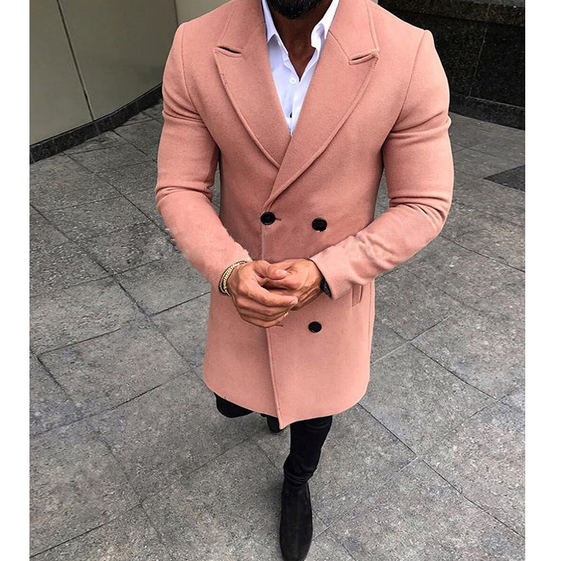 HTB1PaXHXUjrK1RkHFNRq6ySvpXaq 5 Colors Men Winter Double Breasted Pockets Windproof Trench Coat Outwear Slim Smart Casual Warm Overcoat Long Thicken Peacoat