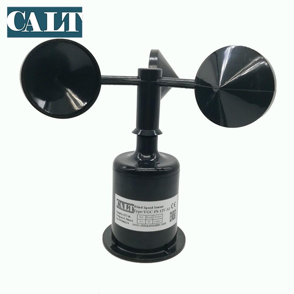 CALT Three 3 cup anemometer 5 12 24 V dc  analog signal 0-5V 1-5V 0-2.5V  ouput  weather station Wind speed sensor transmitter CALT Three 3 cup anemometer 5 12 24 V dc  analog signal 0-5V 1-5V 0-2.5V  ouput  weather station Wind speed sensor transmitter