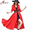 Bleted Весенние Пальто Женщин Новая Весна 2016 Мода Длинные Траншеи Пальто Женщин Элегантный Дамы Gabardina Mujer Траншеи
