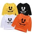 2017 Nuevos Niños de la Camiseta del niño de Las Muchachas Camiseta de la Historieta muchachos de la ropa de Manga Larga Camiseta de algodón de Los Niños Tops Bebé Infantil camiseta