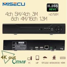 4 К H.265/H.264 NVR MISECU 4*5 М/4*3 М/8*4 М/16*960 P P2P Wifi RS485 PTZ CCTV NVR ONVIF 5 М поддержка воспроизведения 2*6 ТБ Для Камеры Безопасности