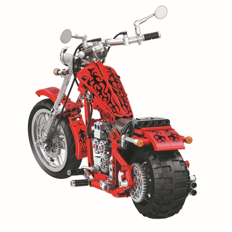 568 unids Diy Technic Series Cruising Motorcycle Building Blocks - Juguetes de construcción - foto 5