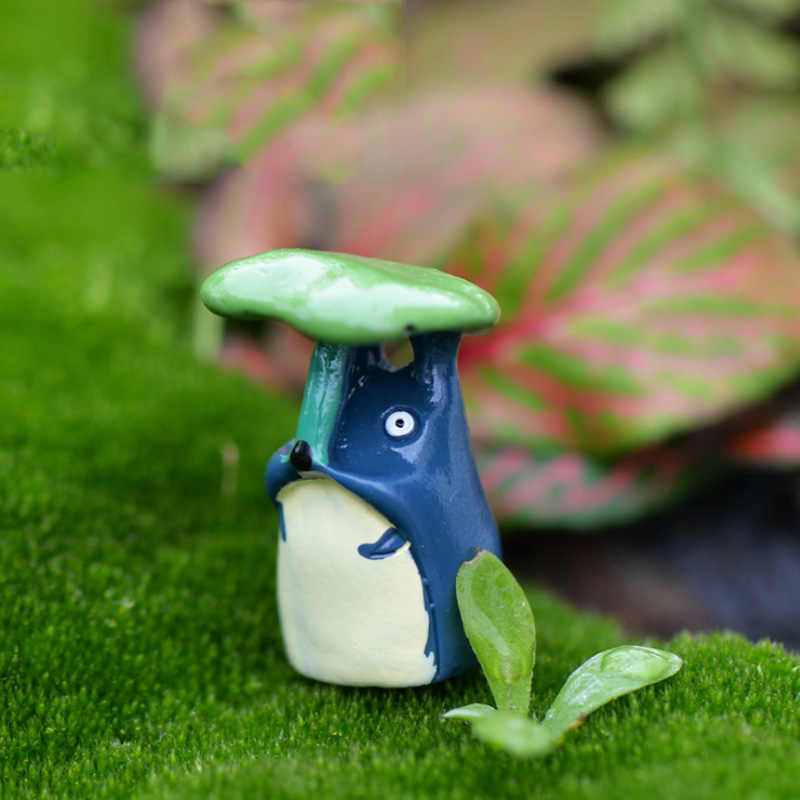 BAIUFOR Miniature Collections Fairy Garden Decor Decor Moss Landscape Accessories diy Terrarium Figurines Dog Tree Totoro House