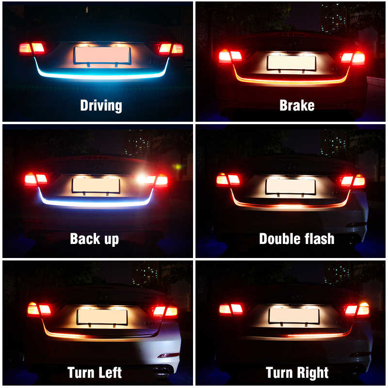 OKEEN 12 в автомобильный сигнал поворота Янтарный светодиодный фонарь для багажника задний светильник на колесиках Ледяной Синий СВЕТОДИОДНЫЙ DRL Дневной ходовой светильник красный тормозной светильник