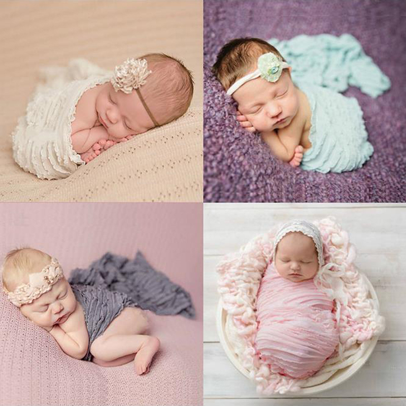 Qualified 120*30cm Baby Photography Props Blankets Wraps Stretchable Knit Newborn Photo Hammock Receiving Swaddling Padding Wraps Dw984407 Demand Exceeding Supply Boys' Baby Clothing Receiving Blankets